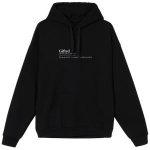 Gifted Definition Hoodie - Black