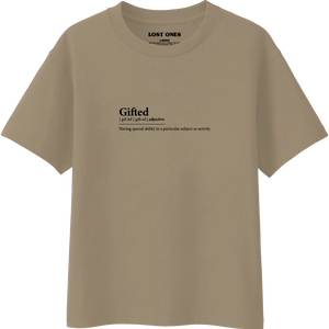 Gifted Definition T-Shirt - Beige