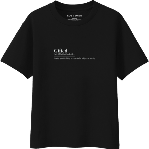 Gifted Definition T-Shirt - Black