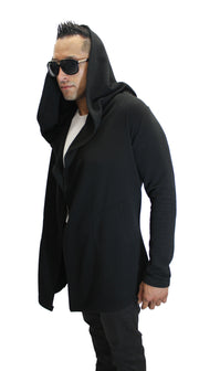 """Silas"" Black Fashion Cardigan"