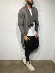 Dark Grey Fashion Cape/Cardigan