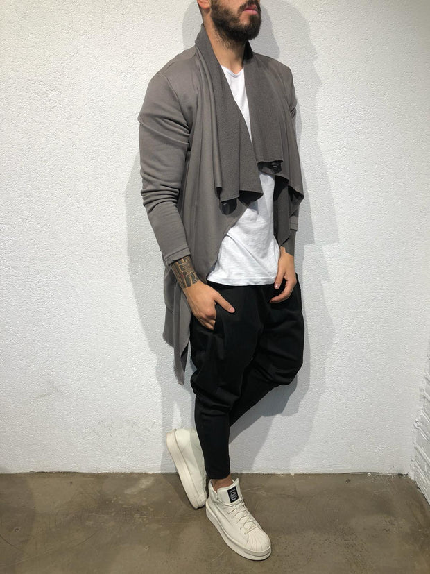 """Salvatore"" Dark Grey Fashion Cape/Cardigan"
