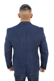 Ari Navy Blazer With Details On Sleeve