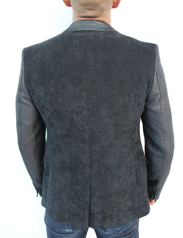 Don Black Blazer With Details On Sleeve