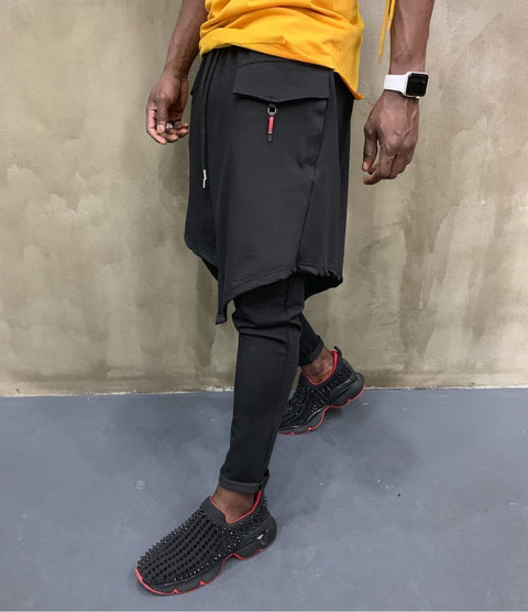 Fashion Black Jogger With Layer