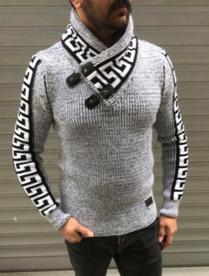 Long Sleeve Pull Over Sweater With Shall Neck