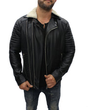 """Akito"" Black Leather Jacket"
