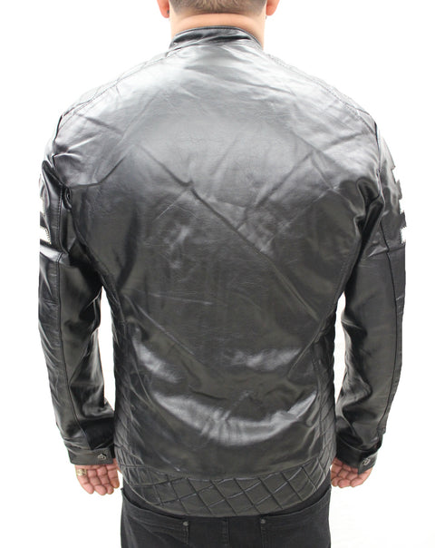 """Guzzi"" Black Leather Jacket"
