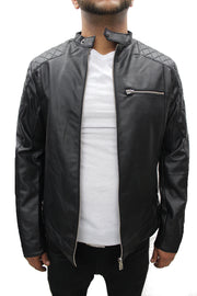 """Kouki"" Black Leather Jacket"