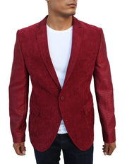 Don Red Blazer With Details On Sleeve