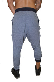 Marcus Navy Fashion Drop Crotch Jogger