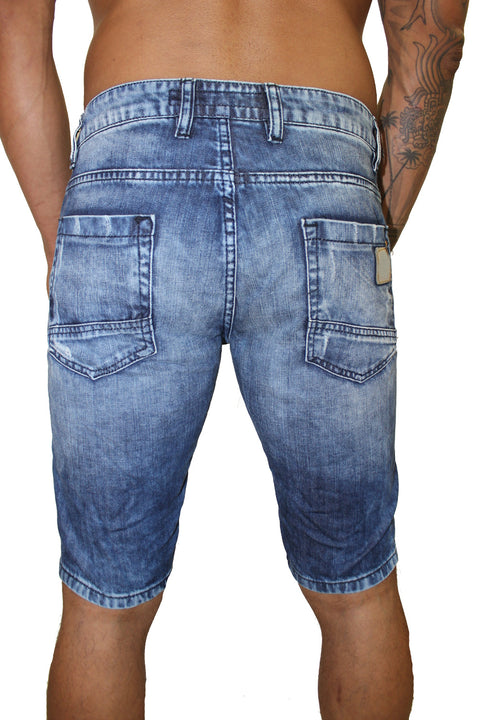 Owen Light Blue Jean Shorts With Pocket Detail