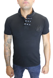 Merriam Black Polo With Skill Patch and Details