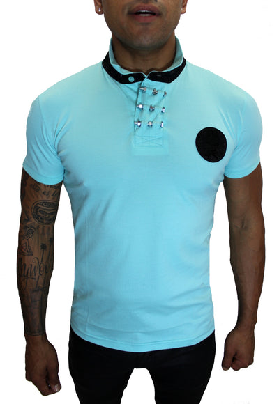 Merriam Mint Polo With Skill Patch and Details