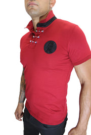 Merriam Red Polo With Skill Patch and Details