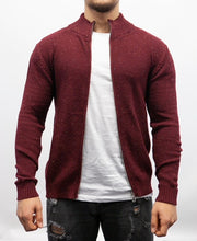 Light Weight Burgundy Zip Up Sweater