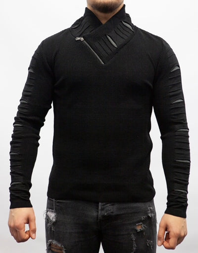 Black Fashion Light Sweater/ Thermal