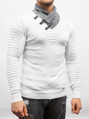 White Fashion Light Weight Sweater/ Thermal