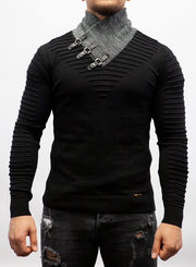 Black Fashion Light Weight Sweater/ Thermal