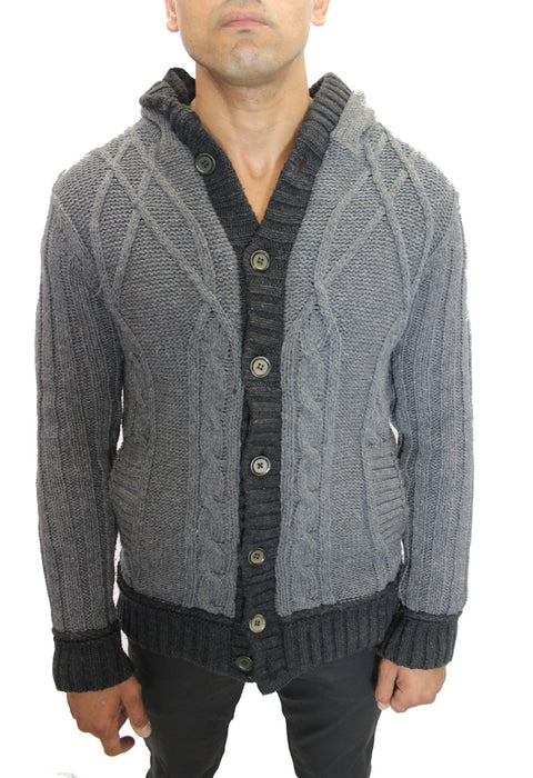 Locklyn Grey Botton Down Sweater