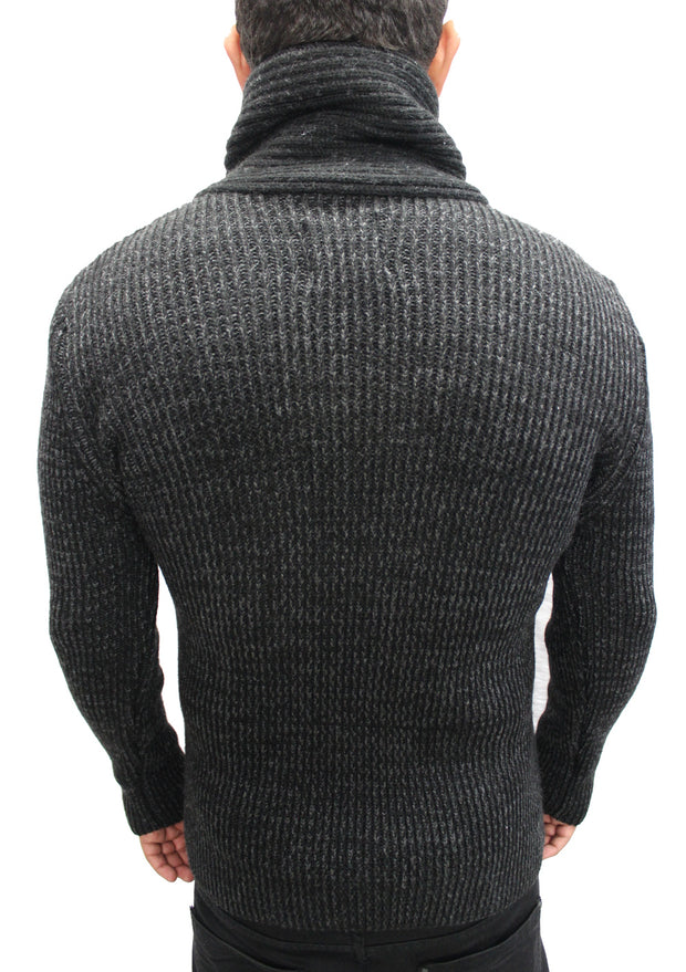 """Electra"" Black Shall Fashion Sweater With Buckle On Side"