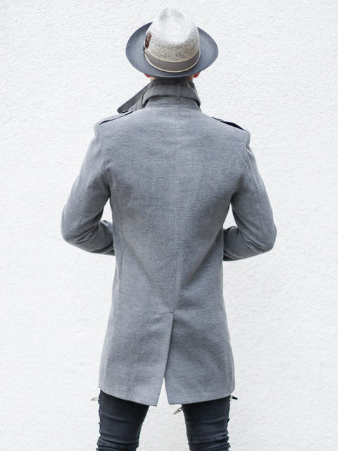 """Tommy"" Grey Wool Coat"