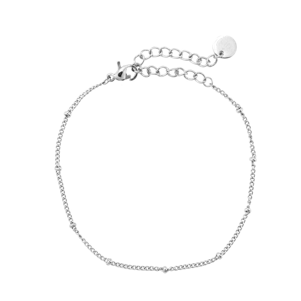 Simple Chic Edelstahl Armband Silber