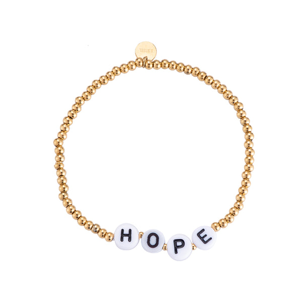 "Beautiful Words ""Hope"" Edelstahl Armband Gold"