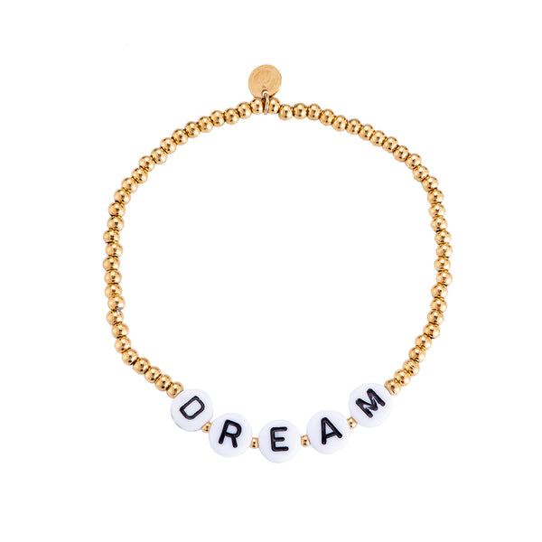"Beautiful Words ""Dream"" Edelstahl Armband Gold"