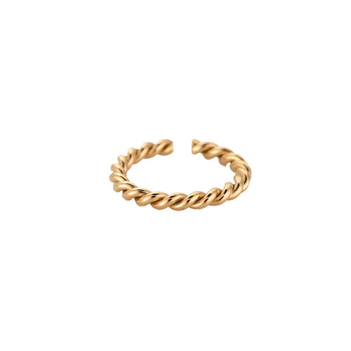 Twisted 2.0 Edelstahl Ring Gold