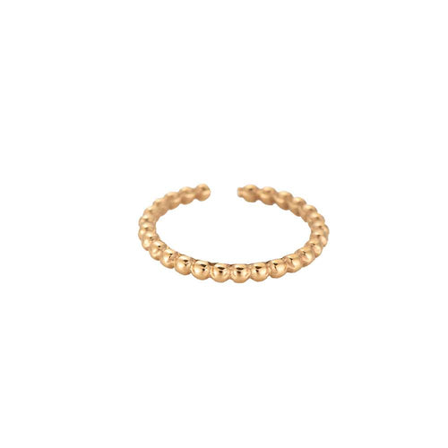 Simple Dots Edelstahl Ring Gold