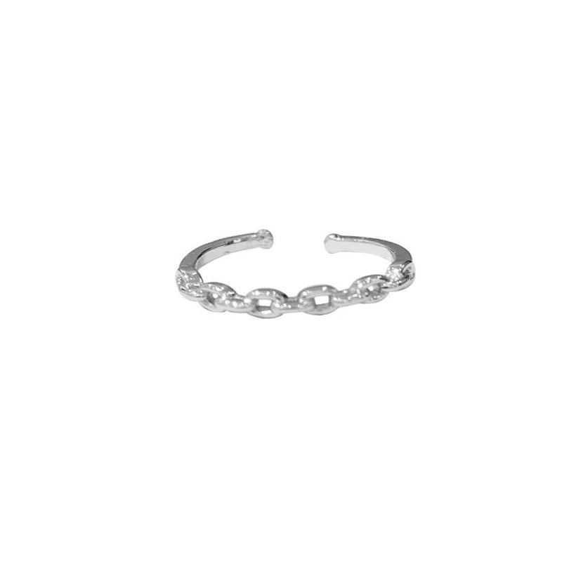 Chain Lock Vergoldet Ring Silber