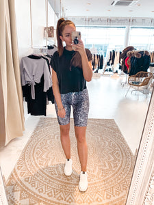 High Waist Cycling Shorts Print