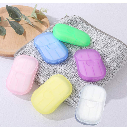 Soap Paper Washing Hand Bath Clean Scented Slice Sheets Disposable Box Soap Portable Mini Soap Paper