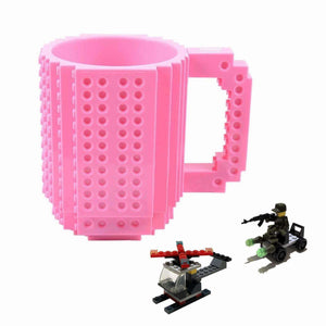 BOMENNE Build-on Brick Mug,Novelty Creative Compatible with LEGO DIY building Blocks Coffee Cup with bricks,is unique Christmas gift Idea