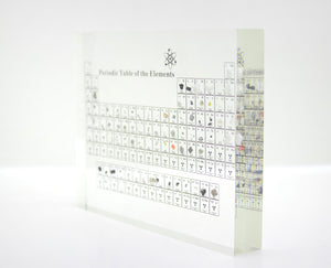 Acrylic Periodic Table Display With Real Elements Kids Teaching School Day Birthday Gifts Chemical Element Display Home Decor