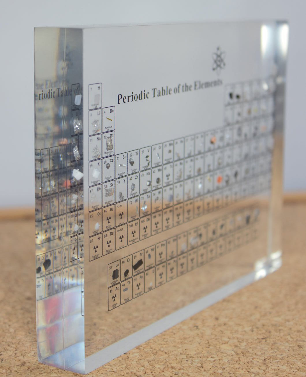 periodic table display with real elements