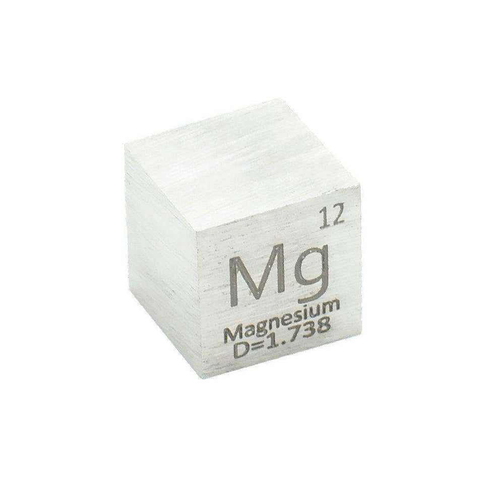 Metal Magnesium Mg Cube Element Collection Educational Tools Science Experiment 99.99% 4N 10x10x10mm  Flame reaction Shining