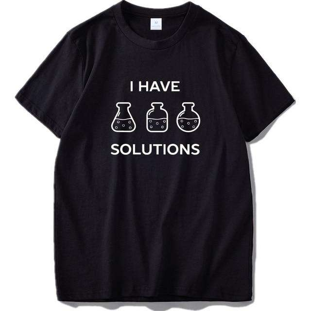 Chemistry T Shirt Funny I Made A Joke Tshirt Black 100% Cotton Summer Tops Tee High Quality EU Size