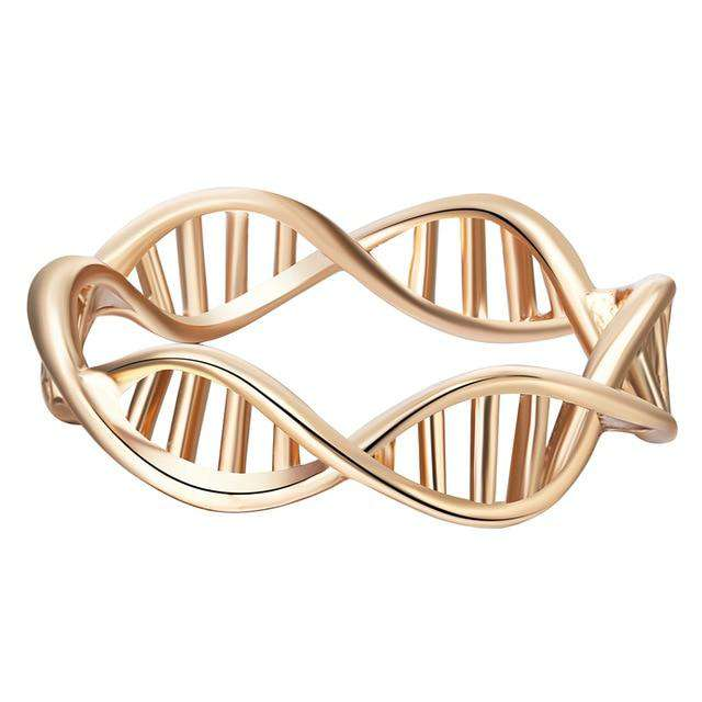 Cxwind Fashion DNA Ring Chemistry Science Ring Molecule Rings Neurotransmitter Dopamine Jewelry infinity ring
