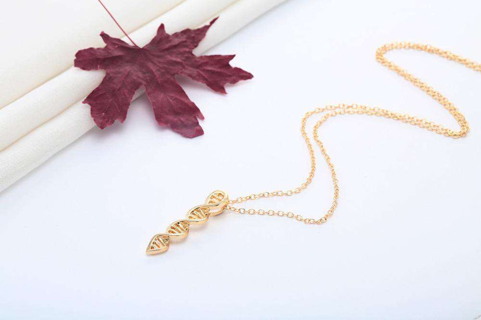 New Arrival Science Jewelry DNA Necklace Biology Jewelry Molecule Necklace Accessories for Women Brand Jewelry Hot Sale