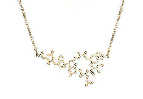 Chemical Molecular Structure Science Ladies Pendant Stainless Steel Pendant Necklace Oxytocin Molecular Necklace Jewelry VN045