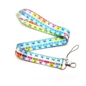 The periodic table Creative Lanyard Keychain for keys Badge ID Mobile Phone Key rings Women Neck Straps Accessories M3545