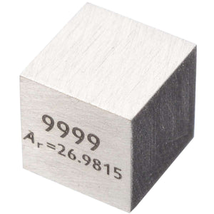 1Pcs 99.99% High Purity Aluminum Al 10mm Cube Carved Element Periodic Table For Tool Parts New