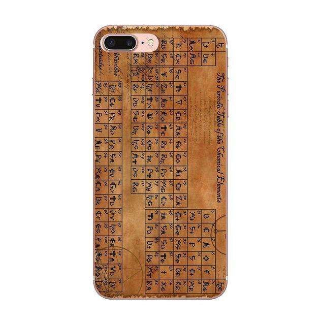 For Apple iPhone SE 6 6S 7 8 Plus X Couple Phone Soft Rubber Back Cover Chemical Chemistry College Periodic Tables