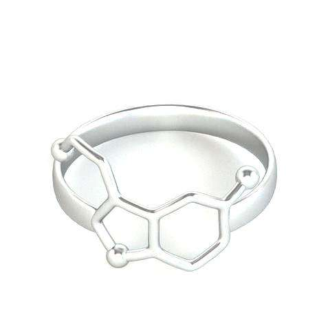 Hfarich Serotonin Molecule Ring Chemistry Neurotransmitter Science Jewelry Rings for Women Girl Gifts Valentine's Day gift