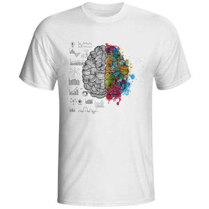 Geek Brain T Shirt Science Chemistry Biology Art Geography Math Physics Cool Fashion Punk T-shirt Casual Funny Style Unisex Tee