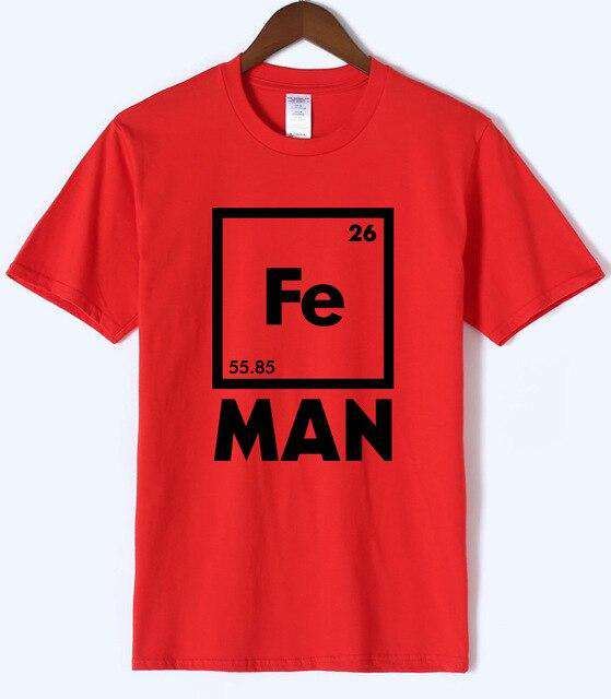 Iron Science T Shirt Funny Chemistry Shirt Fe Periodic Table Tee 2018 Summer Hot Sale Men T Shirts Cotton Short Sleeve TShirt