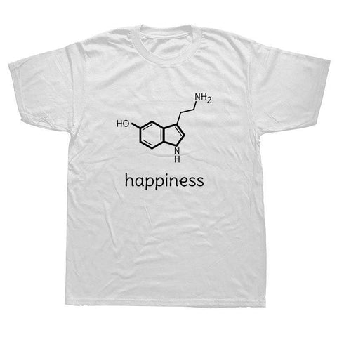 Funny Happiness Science Chemistry T Shirts Physics Biology Lovers Valentines T-shirt Casual Tees