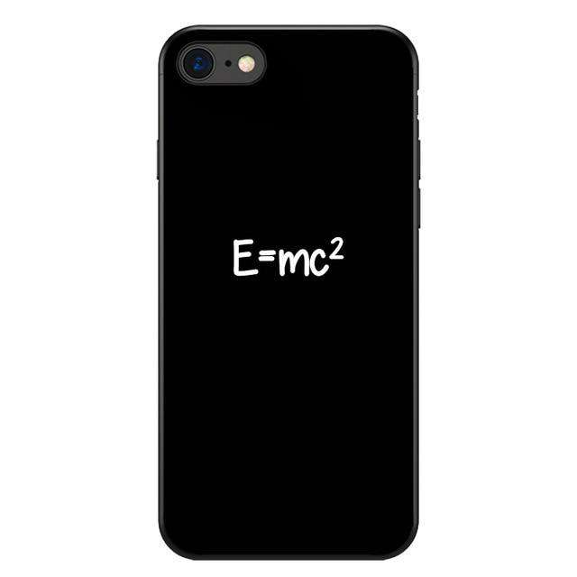 Symbol Math Science Physics Formulas Soft Phone Cases For iphone 7 8 Plus X 5S SE XR XS Max Black iphone Cover Case Frosted